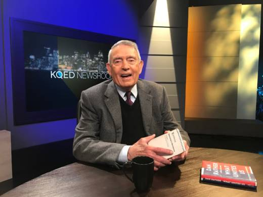 "Dan Rather in the KQED Newsroom studio on Thursday, Dec. 7, 2017 talking about his book ""What Unites Us: Reflections on Patriotism."""