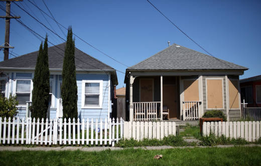 A boarded-up home in Richmond in April, 2011 -- a very different time for the Bay Area housing market.