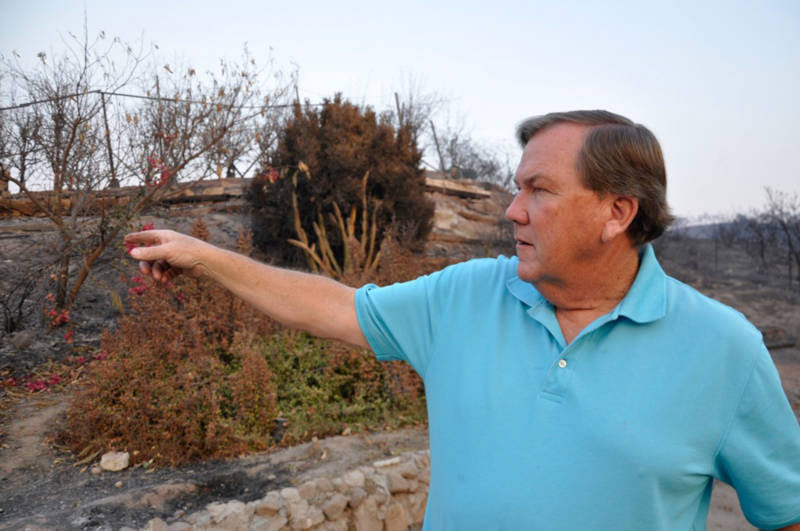 Bob Roper, former fire chief with Ventura County Fire Department, at the site of a burned home in the Upper Ojai Valley on December 13, 2017.