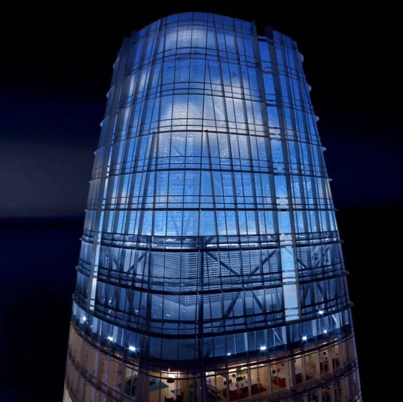 "Artist's rendering of the ""Day for Night"" installation atop Salesforce Tower in San Francisco."