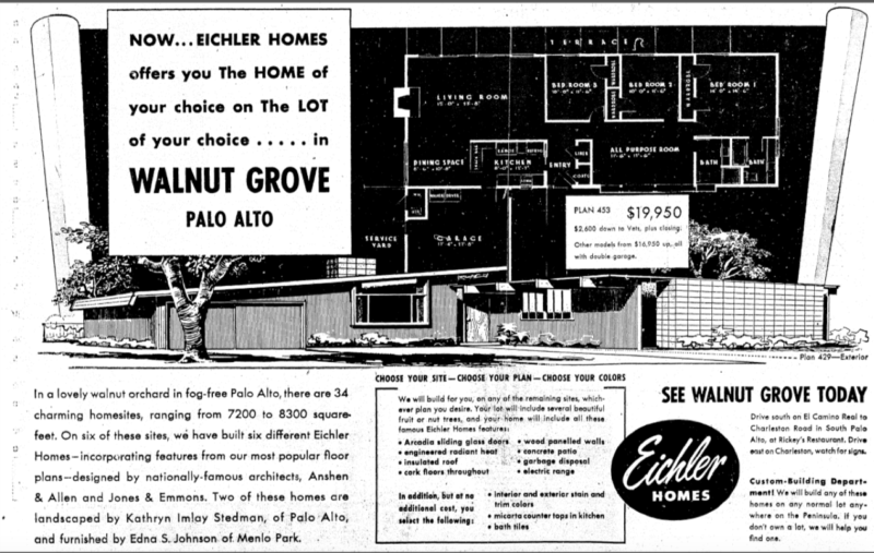 Ads like this one enticed young families to scrimp and save for something better than your average tract house.