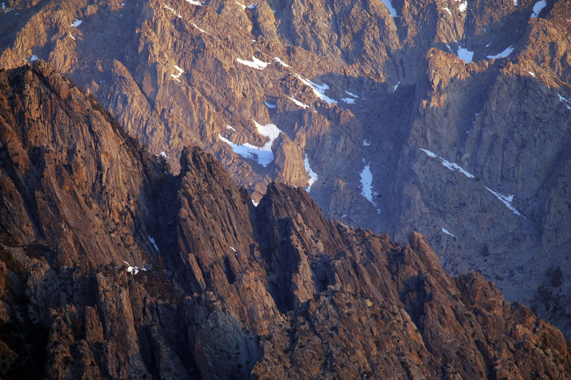 Alpine crags rise north of Mount Whitney in the Sierra Nevada. David McNew/Getty Images