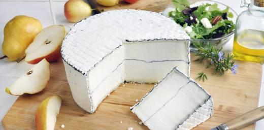Wedge of Humboldt Fog cheese