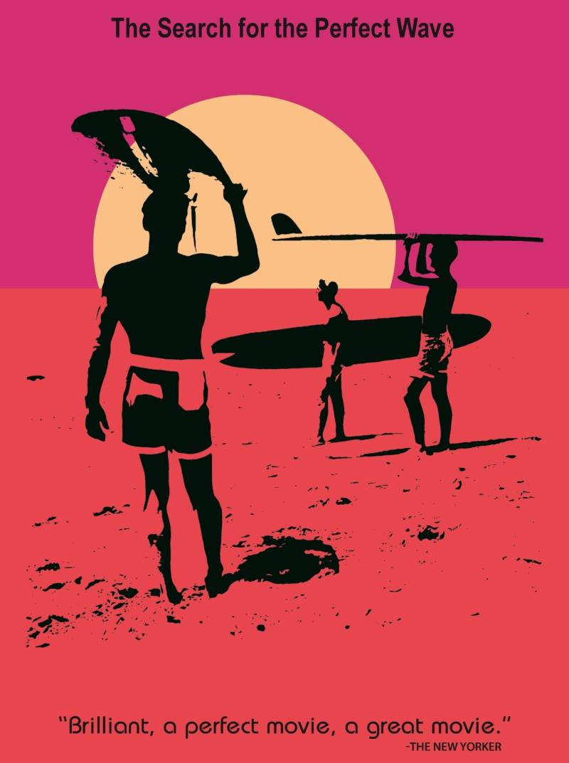 The immortal film poster for The Endless Summer, which you may recognize from New York's Museum of Modern Art, not to mention college dorm room walls across the country.
