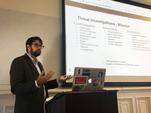 Sean Zadig runs the threat investigations team at Oath, formerly known as Yahoo. He talked about his team's work at the Center for Long-Term Cybersecurity at the University of California, Berkeley in September.