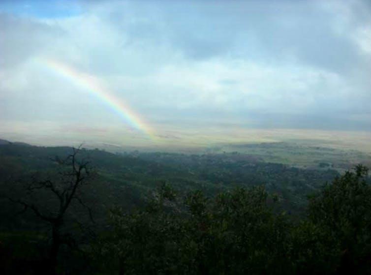 Rainbow over San Diego County