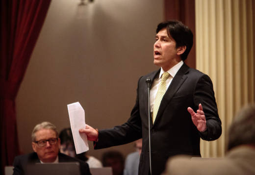 In his waning days as Senate President Pro Tem, Kevin de León is promoting what he calls the 'Protect California Taxpayers Act.'