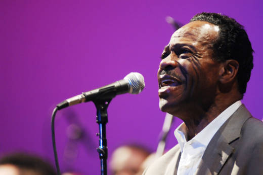 Edwin Hawkins performing at the Paramount Theatre in Oakland.