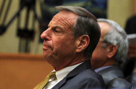 Former San Diego Mayor Bob Filner waits to announce his resignation in 2013.