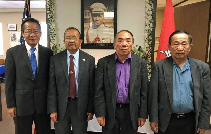 Peter Vang, Mao Vang, Mouying Her and Cheruchia Vang (L-R) are calling on Congress to honor Hmong veterans with the right to be buried in national cemeteries.