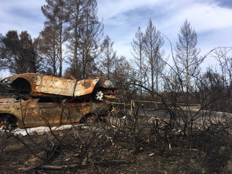 This home site is clean aside from two burned cars that need to be hauled away.