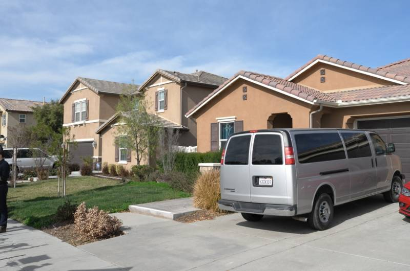 The home of David and Louise Turpin where they allegedly kept their 13 children captive on an otherwise ordinary-looking suburban street in Perris, a bedroom community of 76,000 in Riverside County, 70 miles east of Los Angeles.