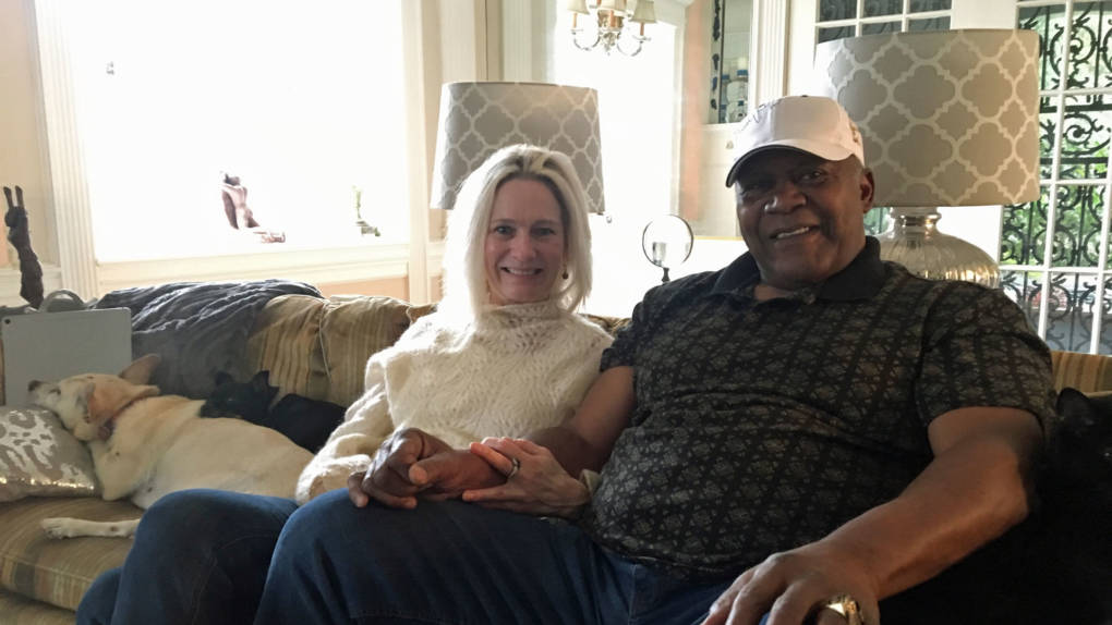 Marvin and Joanne Clark Kendricks in their home in Fresno.