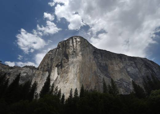 Some visitors to many parks, monuments and public lands were frustrated with spotty service caused by the government shutdown. The El Capitan monolith in the Yosemite National Park in California.