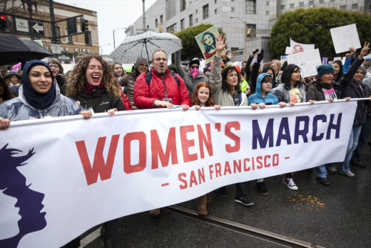 Last year, on January 21, 2017, San Francisco's Women's March began at the Civic Center Plaza with thousands marching down Market St