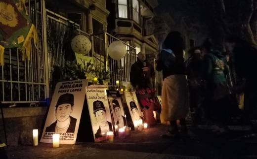 A vigil commemorating 2 years since the death of Amilcar Perez Lopez was held on Feb. 26, 2017 in San Francisco's Mission district.