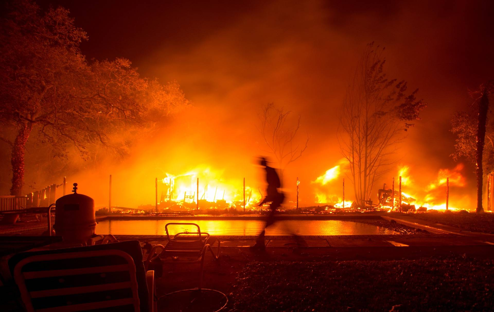 On Oct. 8, wildfires ripping through the North Bay challenged emergency response systems.  Josh Edelson/AFP-Getty Images
