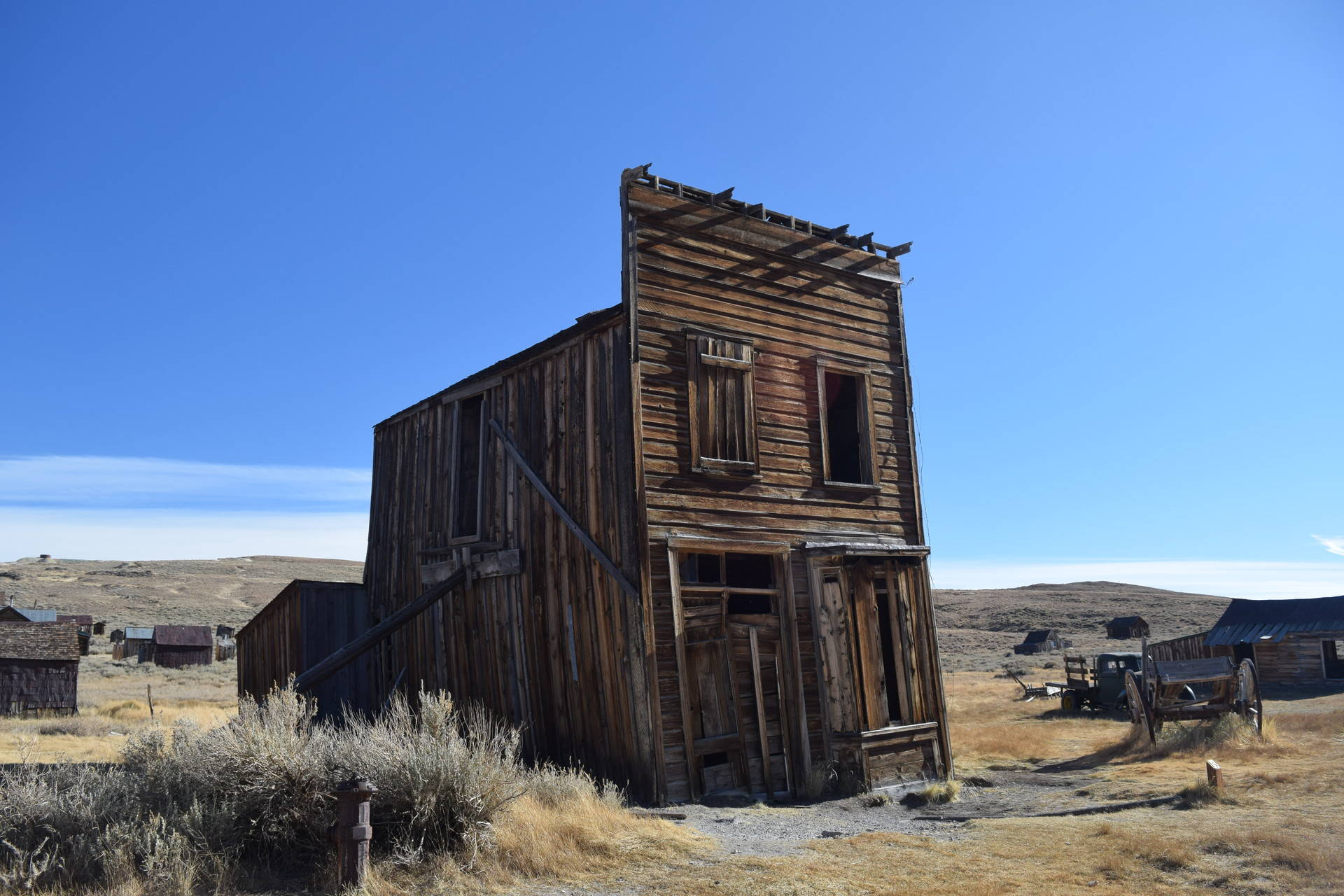 A building in the ghost town of Bodie, California. Carly Severn/KQED
