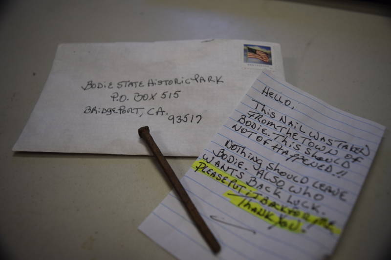 "One anonymous ""curse letter"", returning a nail to Bodie."