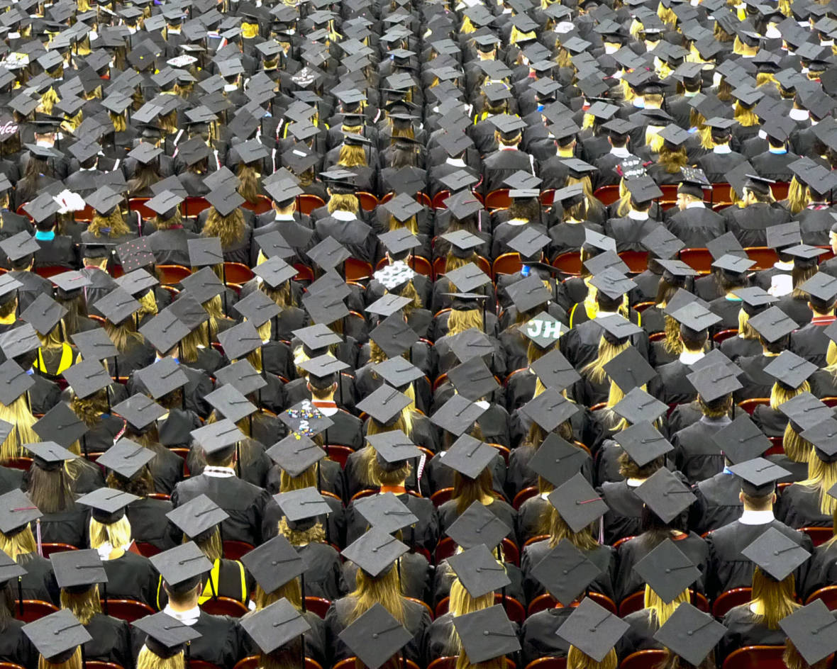 The Public Policy Institute of California projects a shortfall of over a million college graduates in the state by 2030.  John Walker/Flickr