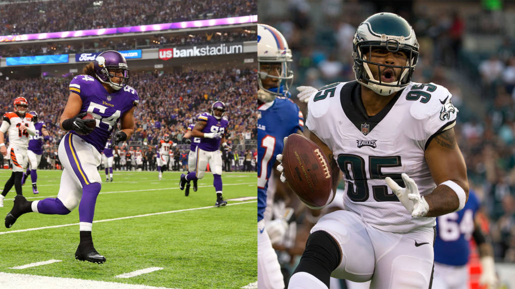 Brothers and Fresno natives Eric (L) and Mychal Kendricks (R) will face on Sunday in the NFC Championships. The winning brother will get go to the Super Bowl.