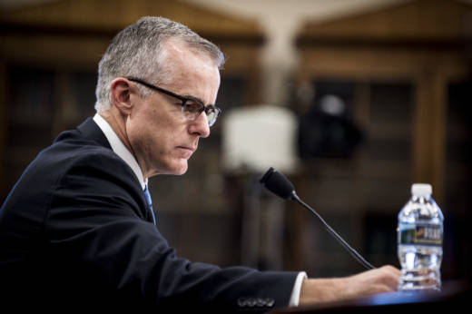 Then-acting FBI Director Andrew McCabe testifies before a House Appropriations subcommittee meeting on June 21, 2017 in Washington, DC. Deputy Director McCabe became acting director in May, following President Trump's dismissal of James Comey.