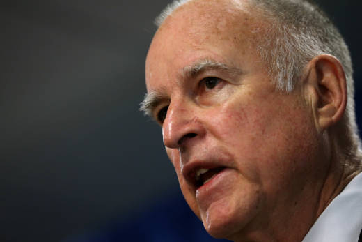 File Photo: California Gov. Jerry Brown recently proposed scaling back his twin delta tunnel plan and released a new plan proposing just one tunnel.