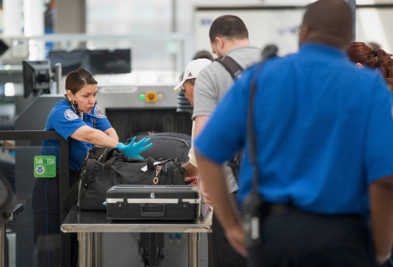 Airport security checks by the Transportation Security Administration aren't going anywhere -- but TSA workers might feel the pinch if their paychecks are delayed.