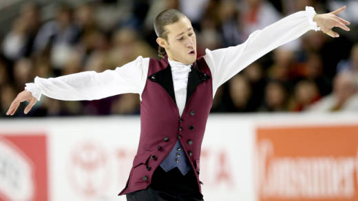 Jason Brown competed in the men's short program during the 2018 U.S. Figure Skating Championships in San Jose, Calif., with a song from Hamilton, the musical.