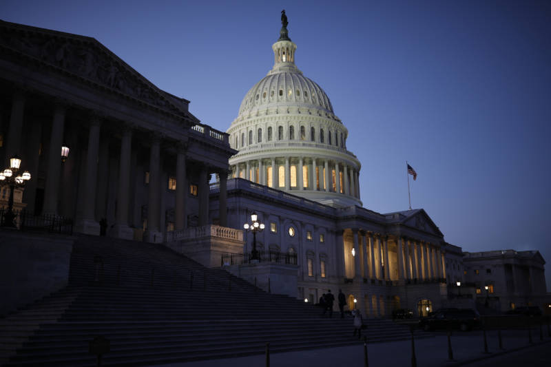 The U.S. Capitol is seen as lawmakers worked to avert a government shutdownFriday in Washington, D.C.