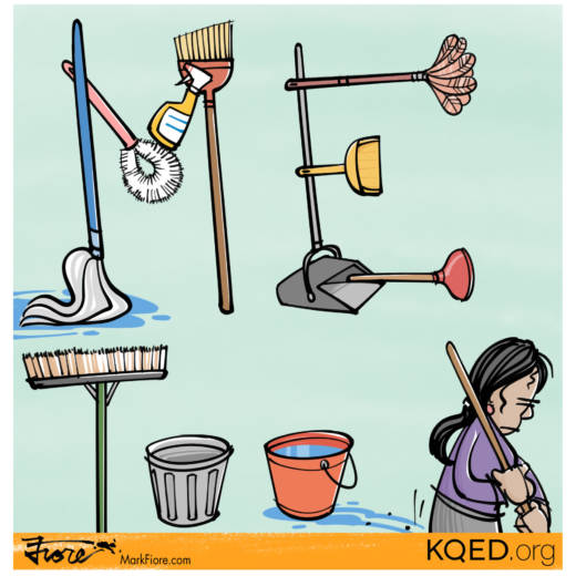 Janitors MeToo by Mark Fiore