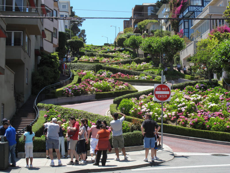 The crooked part of Lombard Street is a hotspot for car break ins.