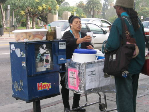 A new California state bill aims to decriminalize street vending, not unlike what the city of Los Angeles did last year. It would also push local governments to create a system for licensing street vendors, something Los Angeles has been weighing for years.