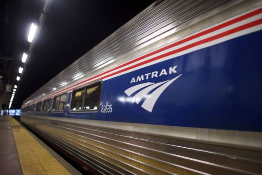 """Amtrak said a train going between New York and Miami """"came in contact"""" with a CSX freight train causing the derailment."""