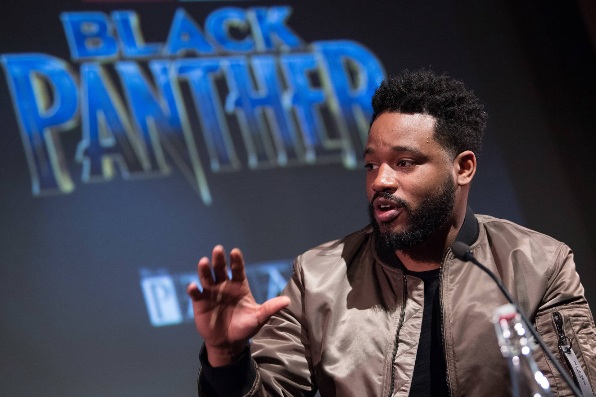 """Oakland-born Director Ryan Coogler attends the """"Black Panther"""" BFI preview screening held at BFI Southbank on Feb. 9, 2018, in London, England.  Jeff Spicer/Getty Images"""