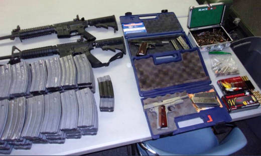 Law enforcement officials found two AR-15 assault rifles, 90 high-capacity magazines and other handguns inside the home of a 17-year-old student at El Camino High School near the city of Whittier.