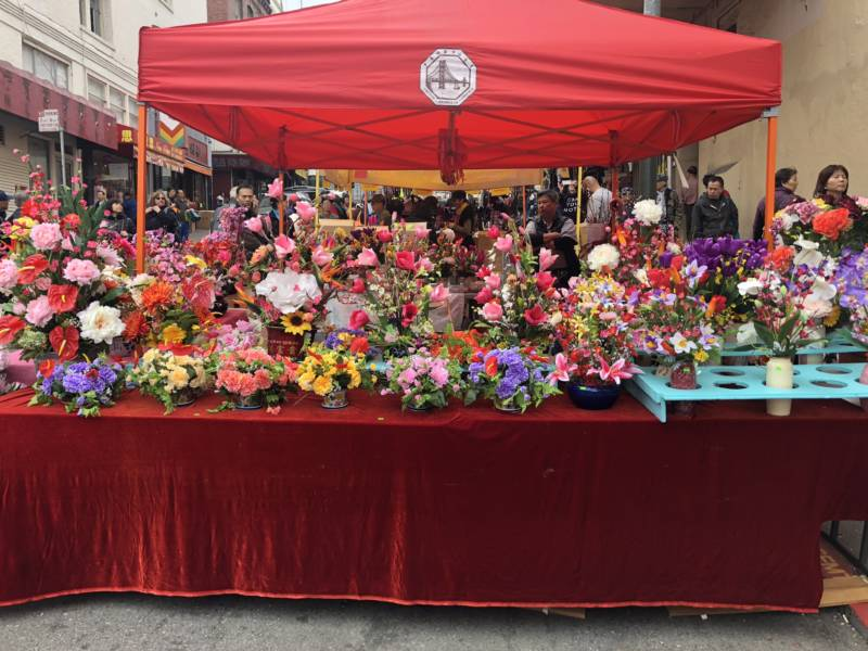 The main attraction at today's fair were the flowers. Plants symbolize growth and are an important part of decorating homes during Chinese New Year.