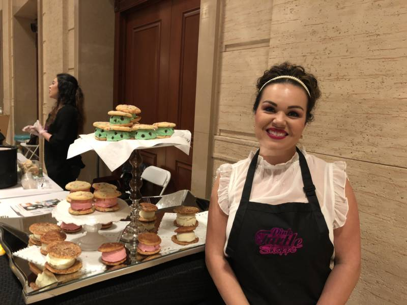 The Cannabis Wedding Expo took place San Francisco Sunday, highlighting the multitude of customizable options now on the market. Arabella McCreary of Pink Turtle Shoppe says she's seen an increase in cannabidiol, or CBD, infused cookies and ice cream sandwich orders for weddings.