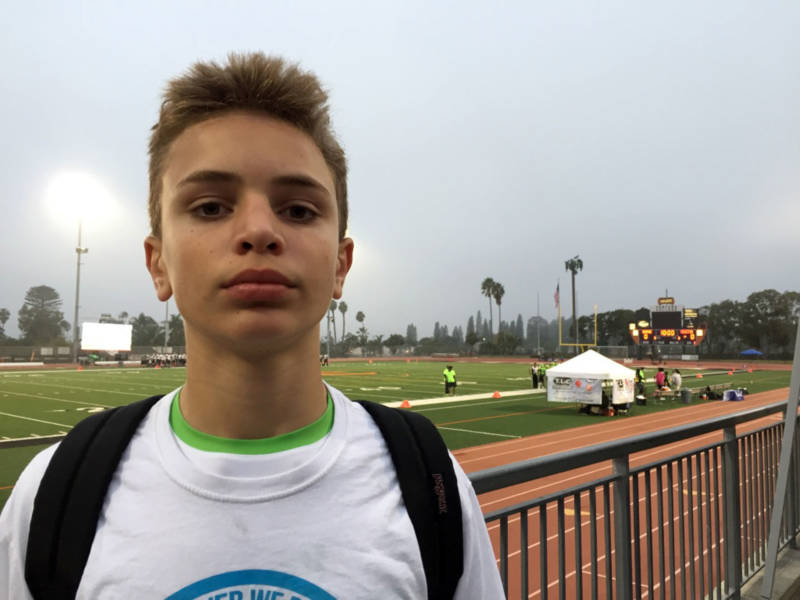 "Peter Boehm, 14-year-old quarterback of the Pop Warner L.A. Valley Seahawks, said he wants to play football in the NFL and be a Hall-of-Famer. His father is proud, while noting, ""there's been so much information now about concussions and so forth that it is a huge concern of mine."""
