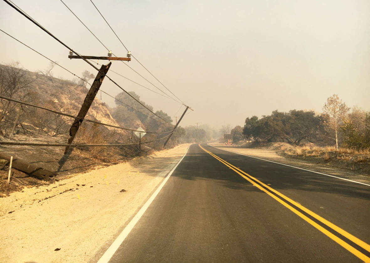After the Thomas Fire, a Fight Over the Repair of Power Lines