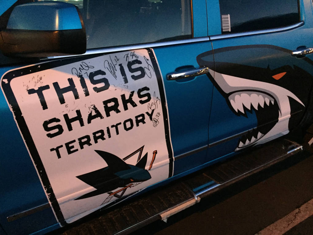 """The San Jose Sharks picked their name based on a """"name the team"""" sweepstakes that brought in around 6,000 responses with 2,300 different names."""