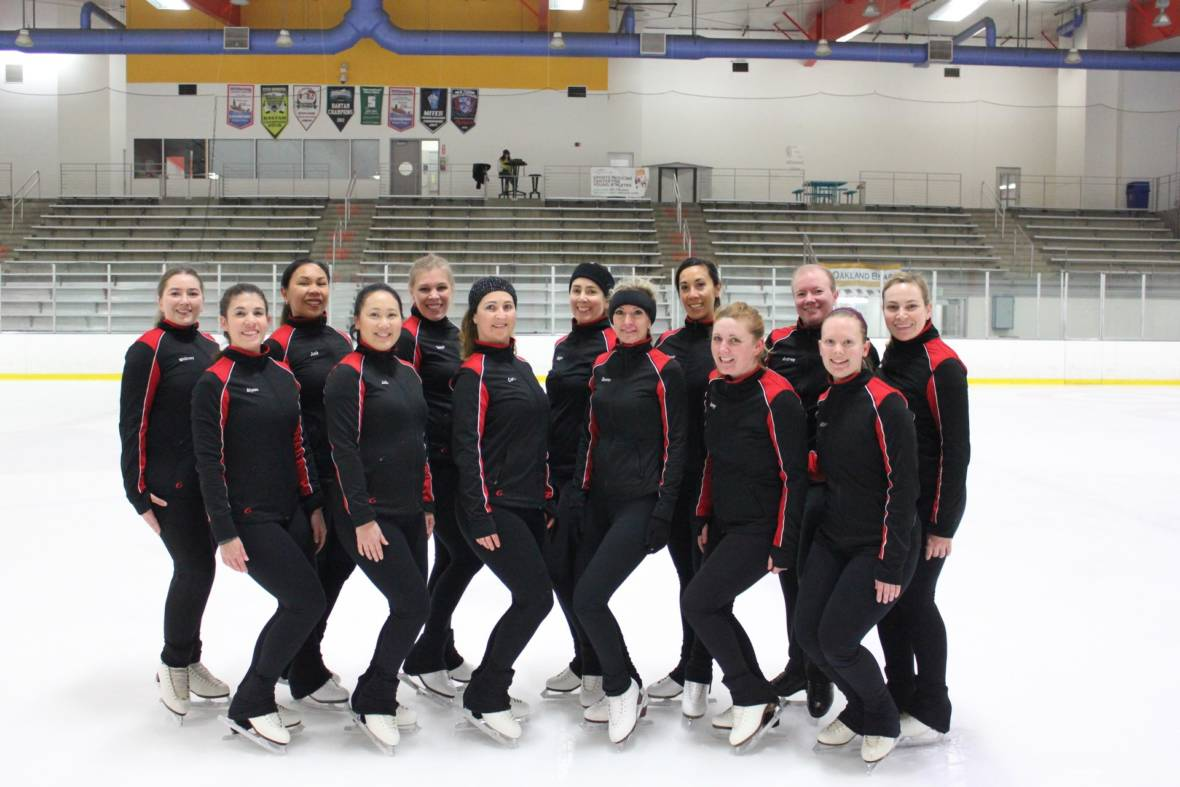 On This Ice Skating Team There Are No Olympians and No One Under 25