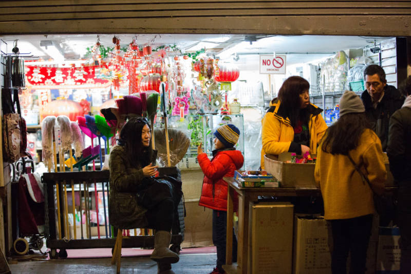 Chinatown's shop owners welcomed crowds of tourists and locals alike during the two week festival. In Lunar New Year tradition, giving fruit, like apples or oranges, as a gift for a host or hostess brings health and prosperity.