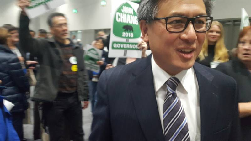 State Treasurer John Chiang walks though the California Democratic Convention in San Diego.
