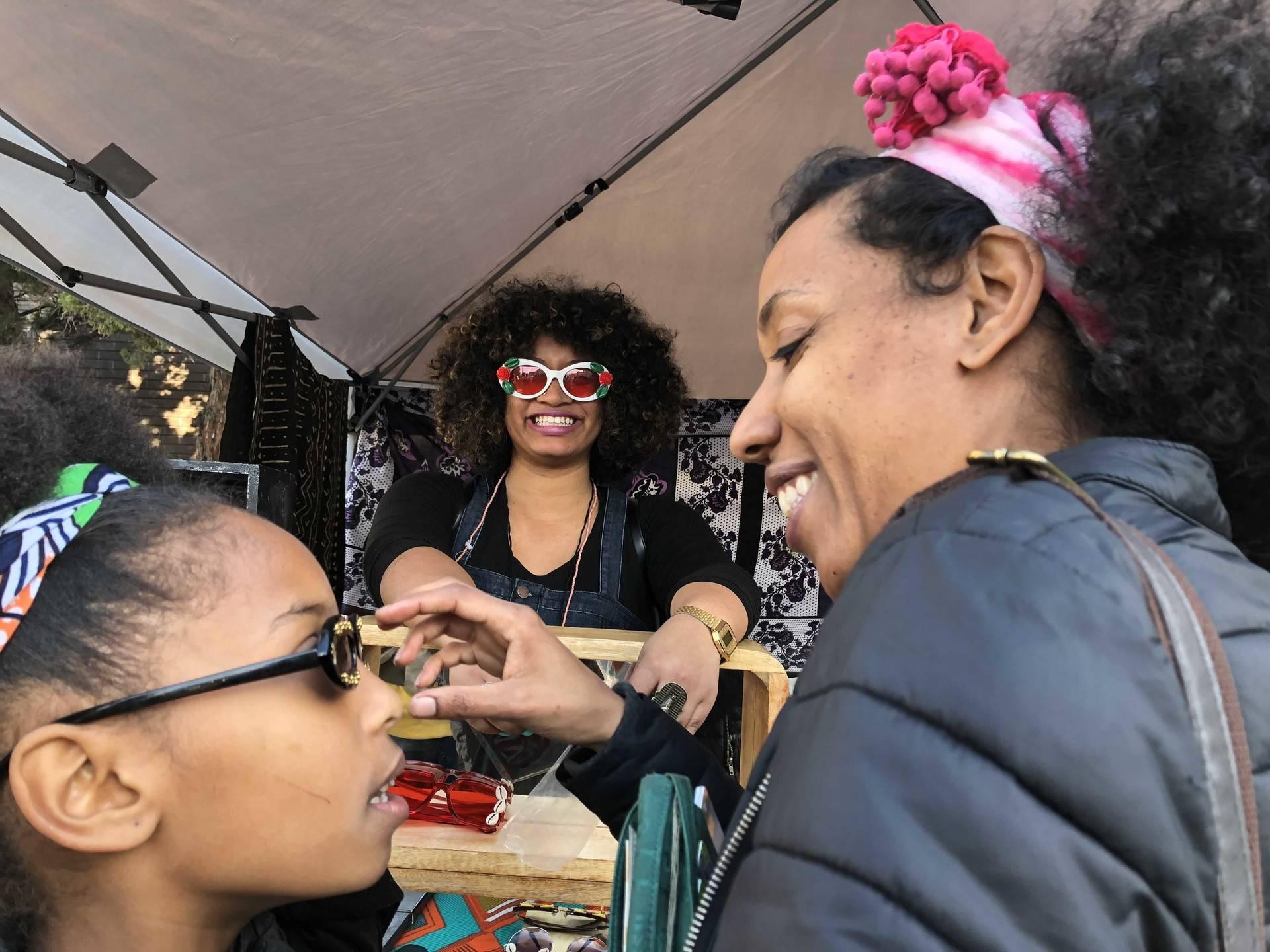 Oakland celebrates the inaugural Black Joy Parade on Sunday, February 25, 2018. Samantha Clark/KQED
