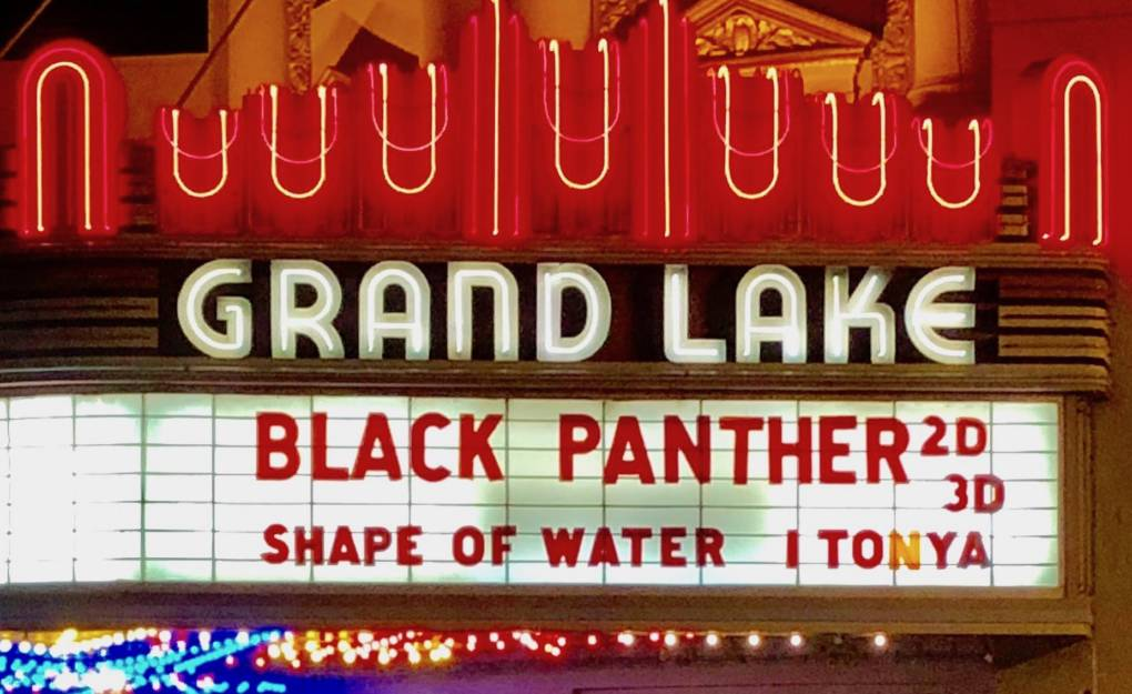 Oakland's Grand Lake Theater is currently showing the new Black Panther movie. Those who saw it on opening night on Thursday, Aug. 15, 2017, got a surprise appearance by director and Oakland native Ryan Coogler.