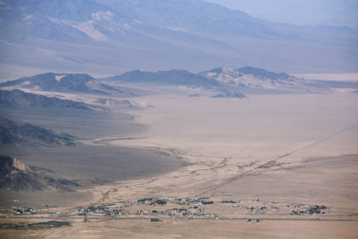 The Silurian Valley near Death Valley National Park is where a company called Iberdola Renewables had proposed to build a 23-square-mile solar and wind project. But the valley is now protected under the Desert Renewable Energy Conservation Plan.