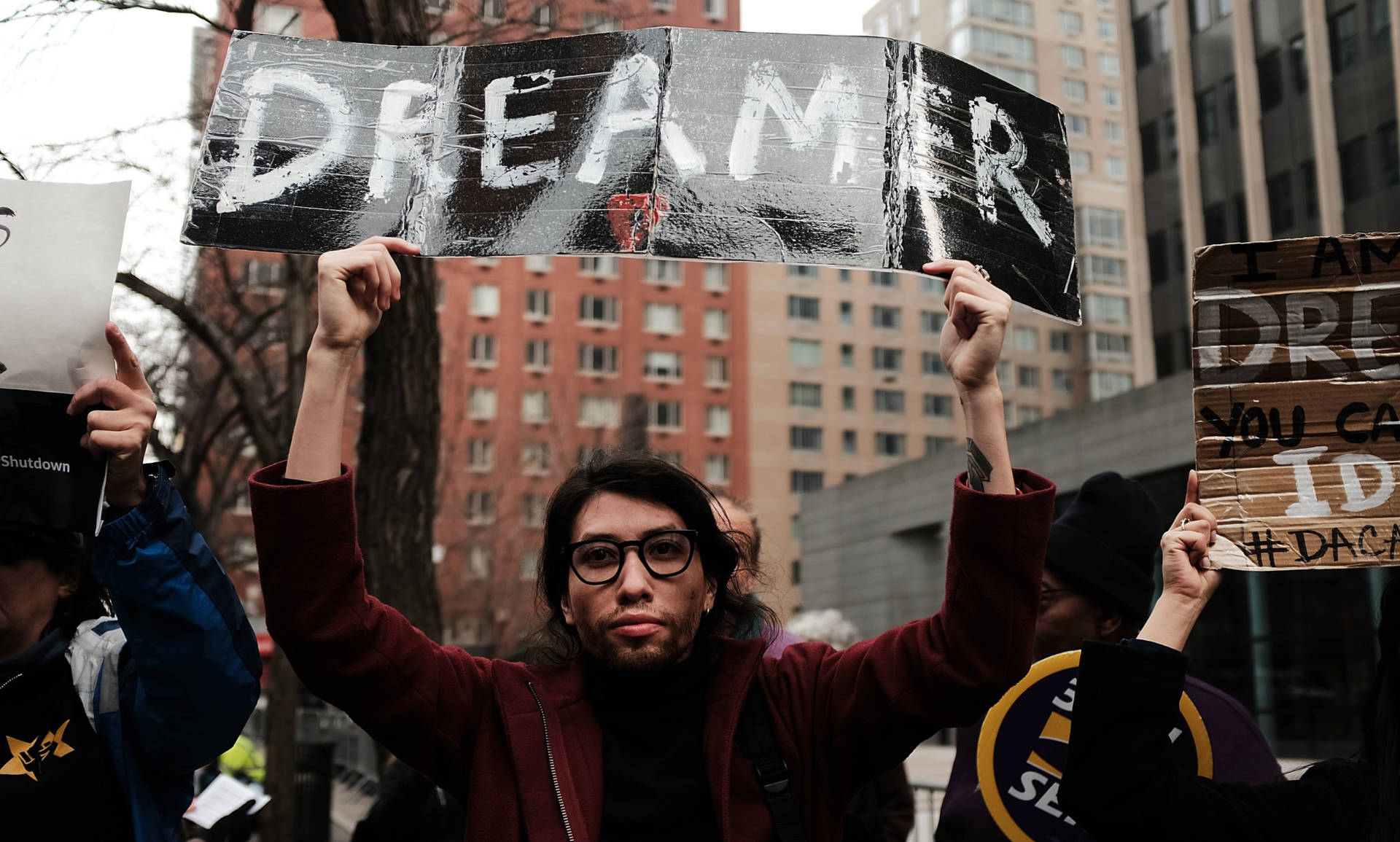 Demonstrators protest the lack of a deal on the Deferred Action for Childhood Arrivals program, which includes so-called DREAMers, last month outside of Federal Plaza in New York City. There is still no deal. Spencer Platt/Getty Images