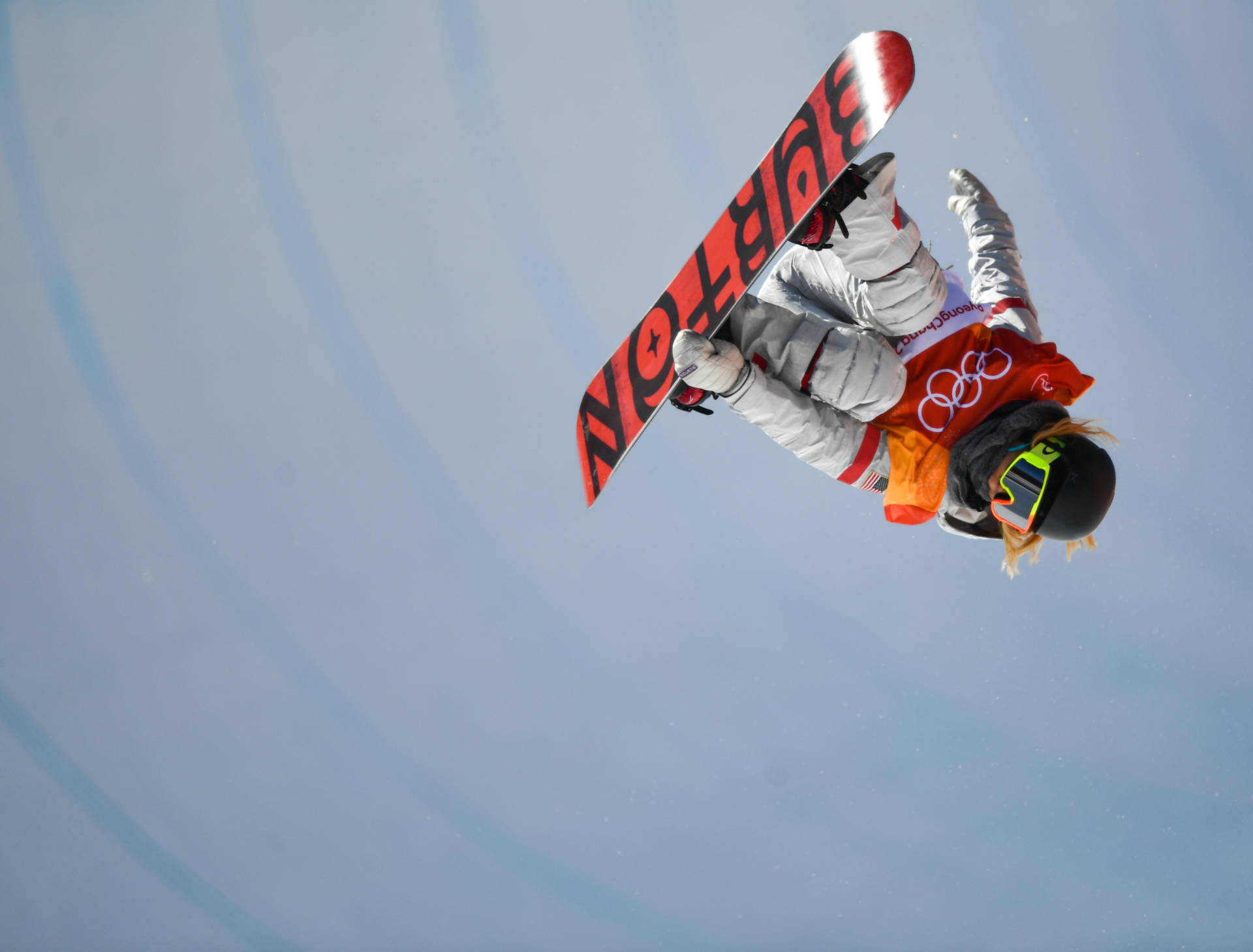 U.S. snowboarder Chloe Kim, 17, soars to a gold medal in the halfpipe. Ramsey Cardy/Sportsfile via Getty Images