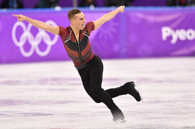 Team USA's Adam Rippon competes in the men's short program on Friday.